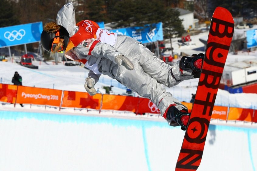 Chloe Kim competes in the halfpipe final event earlier this month.