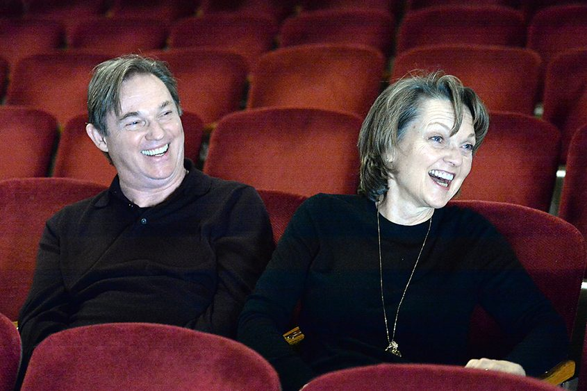 """Richard Thomas and Pamela Reed share stories about their careers at Proctors, where they are now starring in """"The Humans."""""""