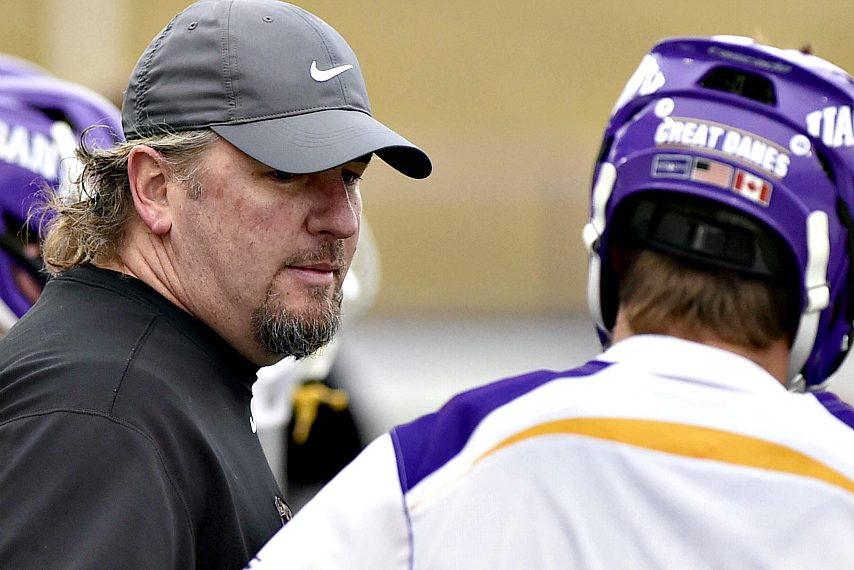 UAlbany head coach Scott Marr is shown during last weekend's win against Drexel.