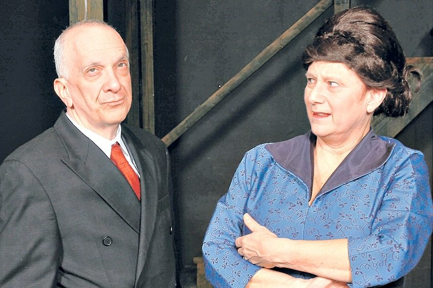 """Melissa Putterman Hoffman shares the stage with her husband, Gary Hoffman, in SLOC's production of """"Curtains."""""""
