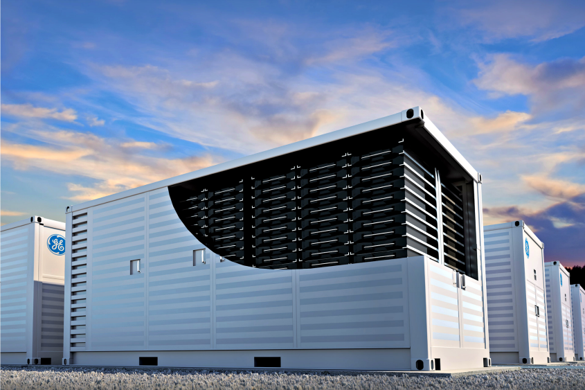 A rendering of the battery component of General Electric's new Reservoir energy storage system.