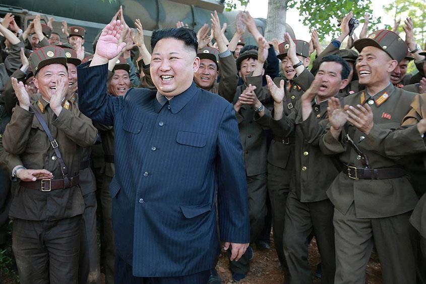 North Korean leader Kim Jong Un visits a Korean People's Army unit.