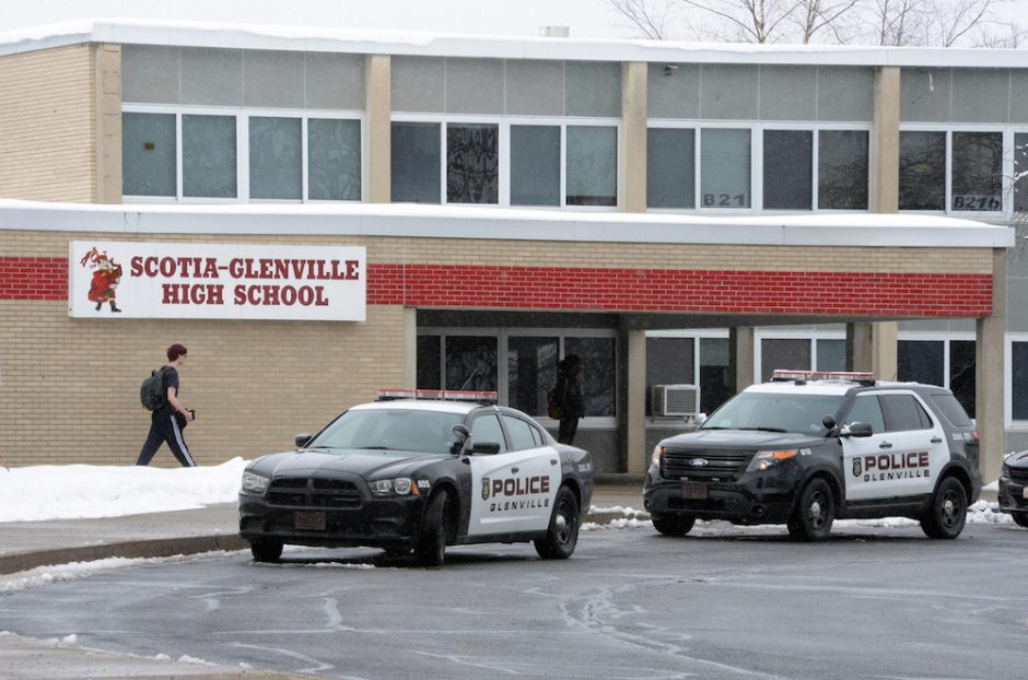 An online threat prompted many Scotia-Glenville High School parents to pick up their children on Wednesday, March 14, 2018.