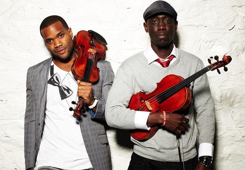 Kevin Sylvester, left, and William Baptiste of Black Violin.