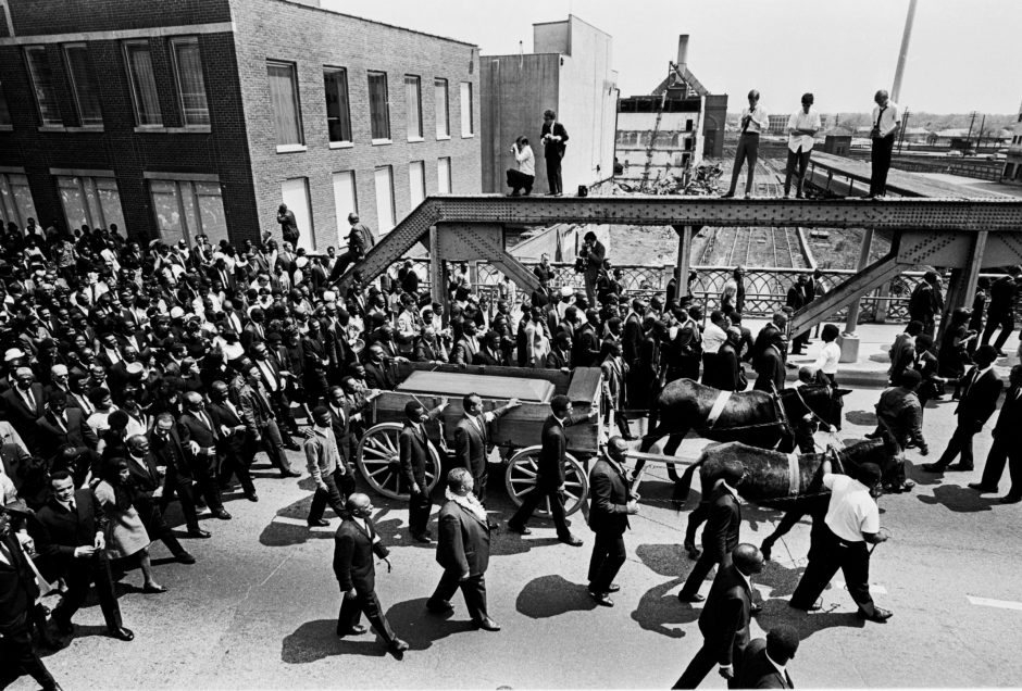 The funeral for the Rev. Dr. Martin Luther King Jr. in Atlanta, April 9, 1968.