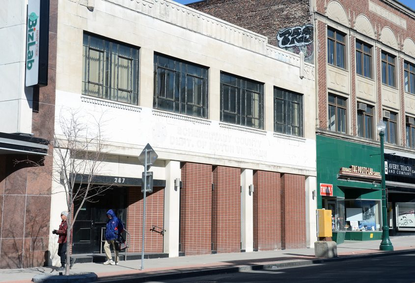 The former Schenectady County Department of Motor Vehicles Building is in line for a grant to fund renovations for new use.