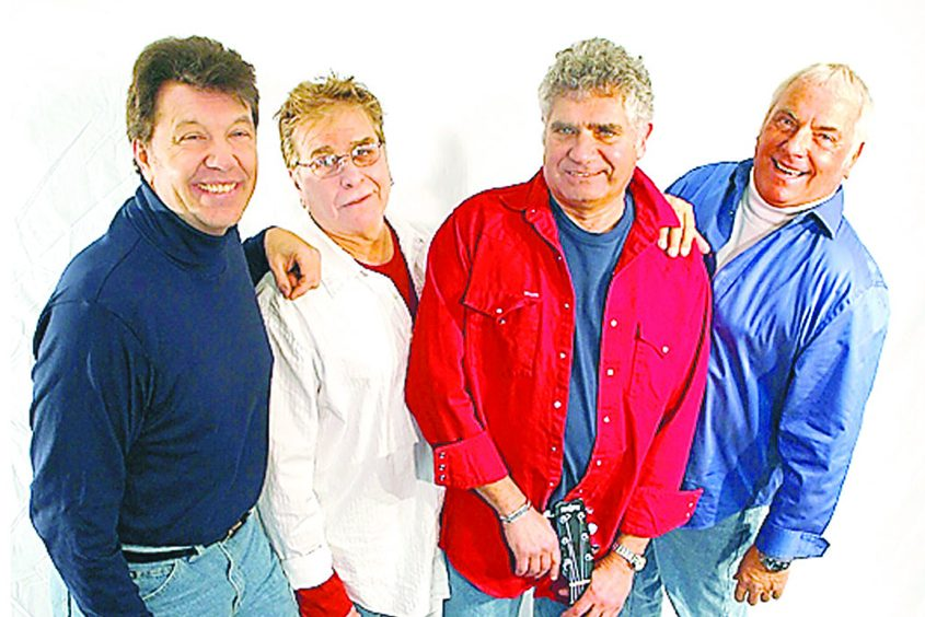 Jay Reincke, left, is pictured with originals Howie Kane, Marty Sanders and Sandy Deanne.