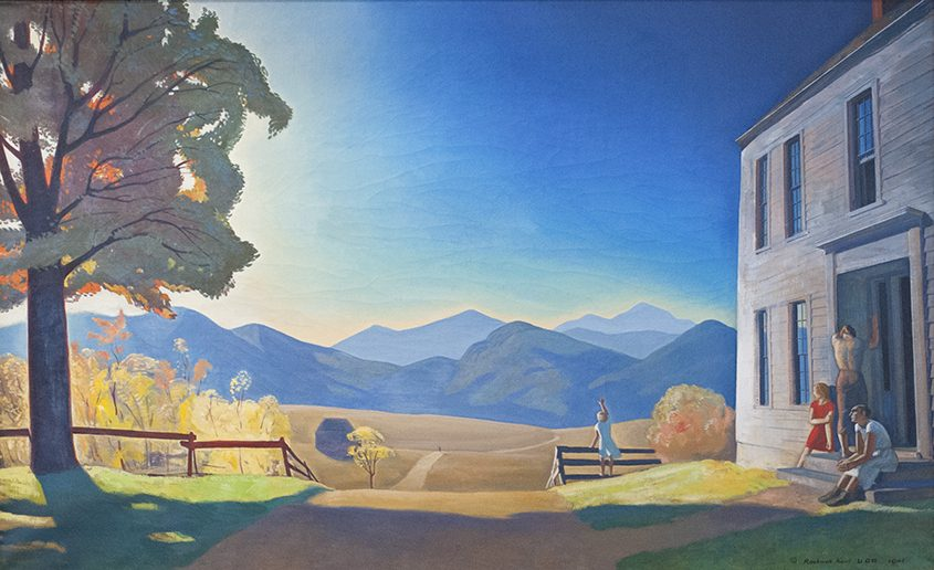 """Vermont Mountains, Summer,"" Rockwell Kent, 1927, oil on canvas."