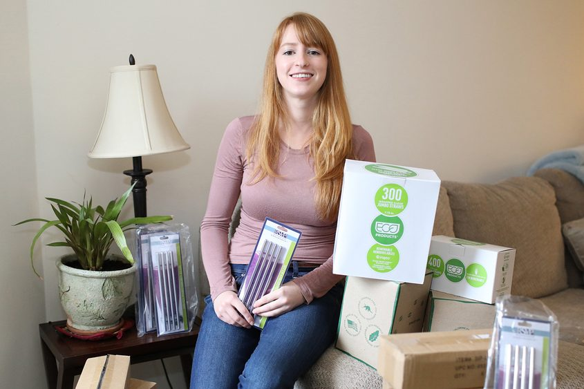 Jill Fecteau of Waterford has begun a campaign to eliminate use of straws in Saratoga Springs.