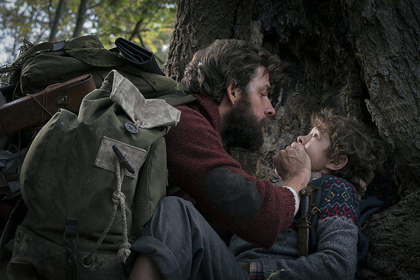 "John Krasinski and Noah Jupe in ""A Quiet Place."""