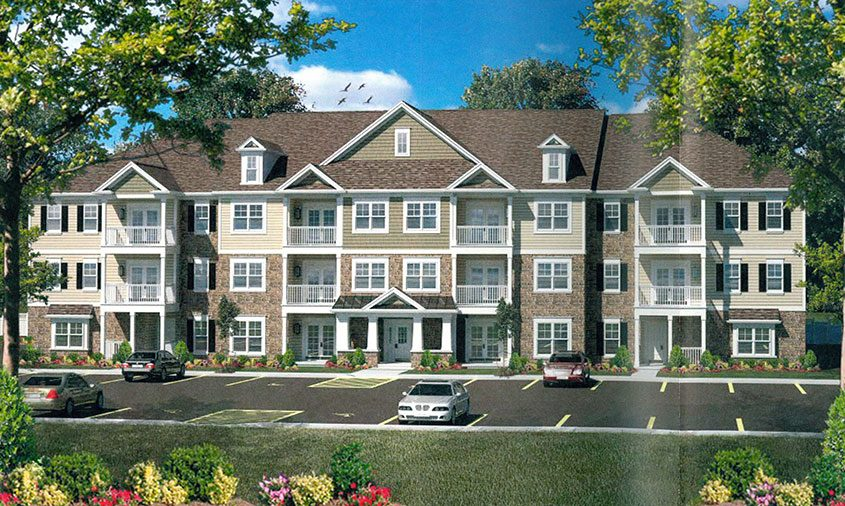 A rendering of proposed apartments in Glenville.
