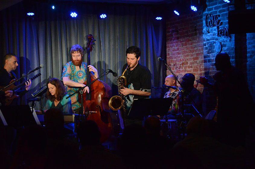 At Caffe Lena last Saturday, the jazz-world-beat band Heard performs.
