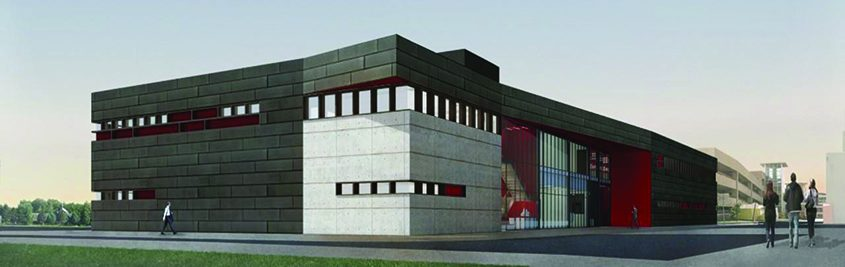 An rendering of the Gene F. Haas Center for Advanced Manufacturing Skills to be built at HVCC.