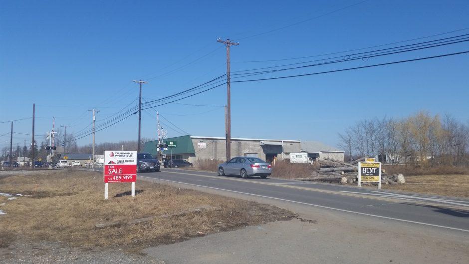Near the rail crossing on Freeman's Bridge Road.