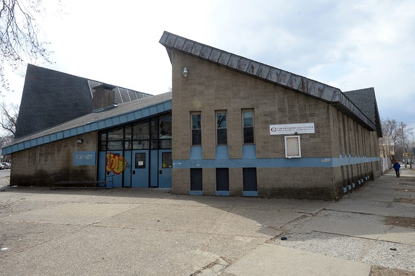 The Carver Community Center building in Hamilton Hill is seen last week.
