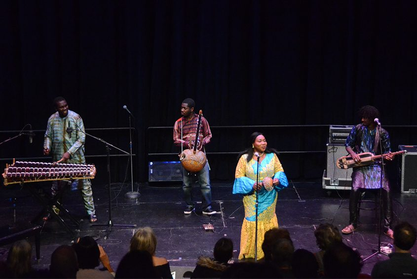 Malian group Trio Da Kali perform their final song during Africa Unplugged at Proctors last Friday.