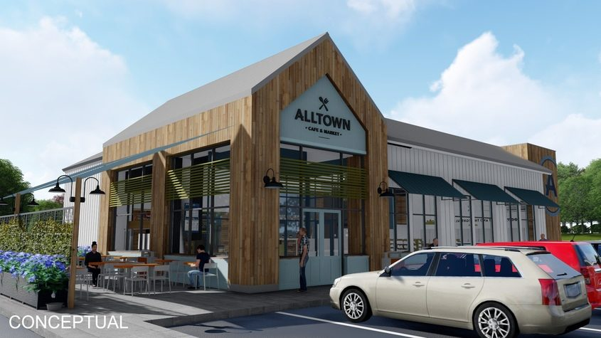 A conceptual illustration, subject to revision, shows the Alltown covenience store Global Partners proposes on Erie Boulevard.
