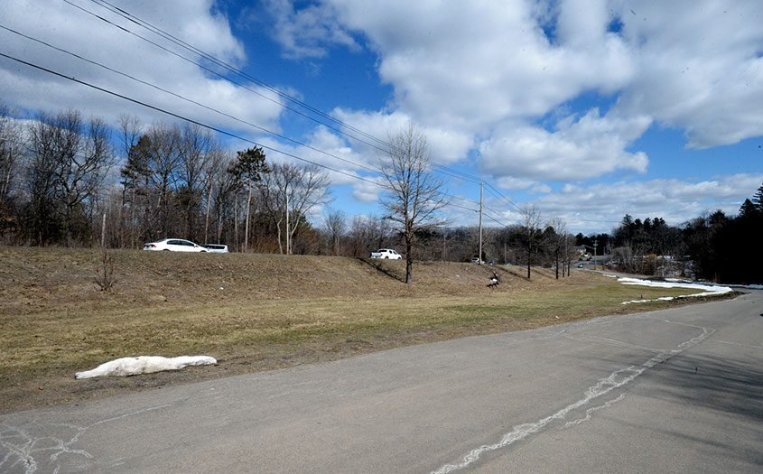 View of the site of a proposed Holocaust memorial on Route 7 in Niskayuna.