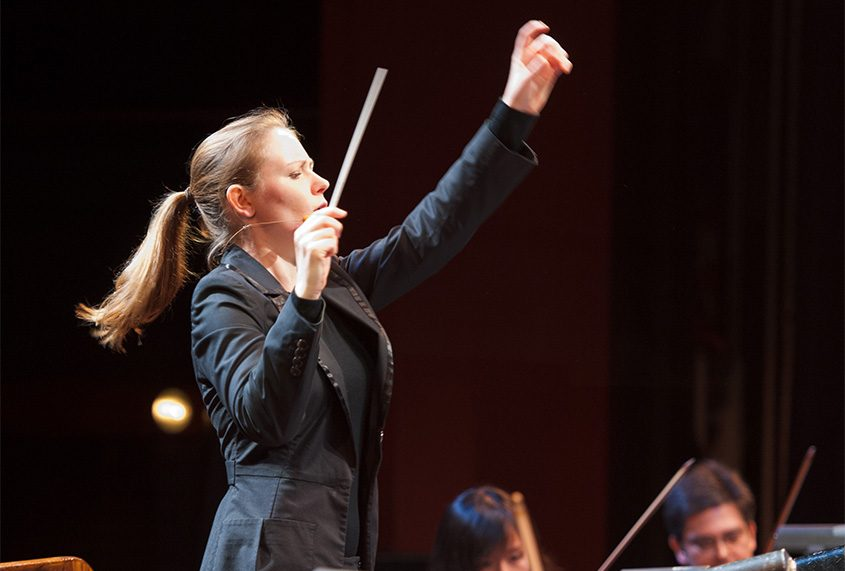 New Zealand conductor Gemma New will debut with the Albany Symphony Orchestra at Proctors on Saturday.