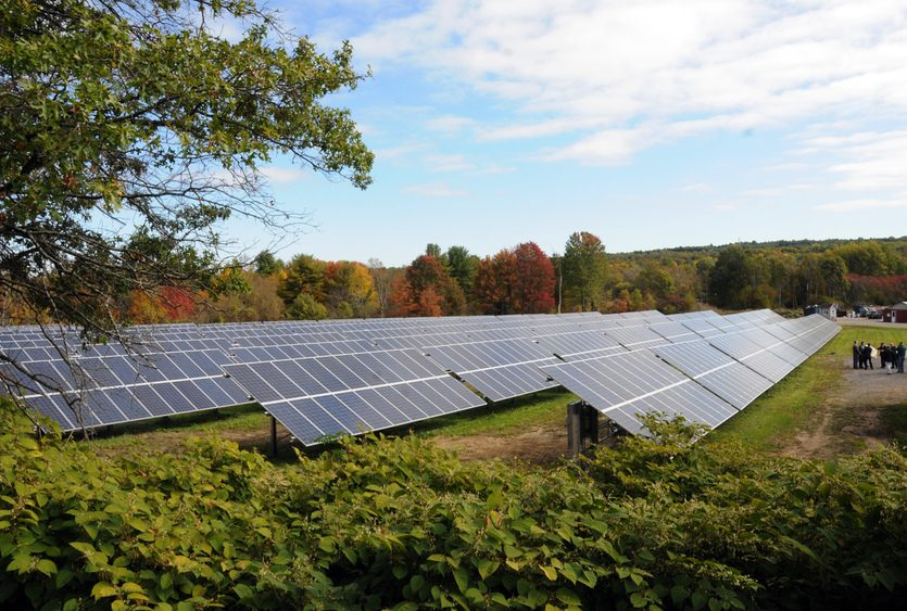 The Schenectady County solar farm on Hetcheltown Road in Glenville is pictured on 2015.