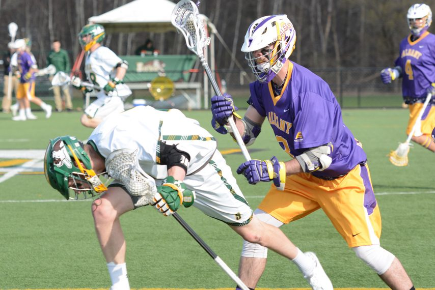 Tim Cox, a Schenectady native and former UAlbany lacrosse player, is now a coach at Robert Morris.