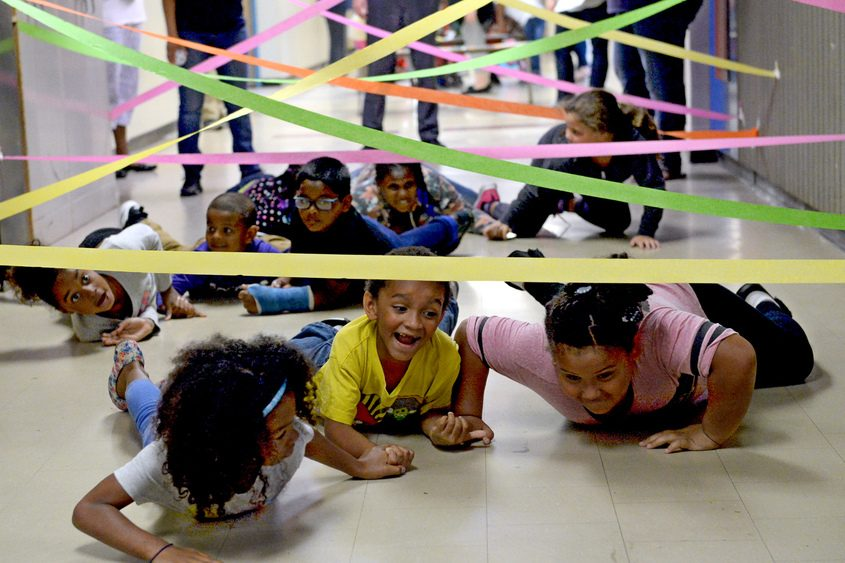 Kids at Martin Luther King Jr. Elementary School participate in Schenectady School District's Summer Enrichment program in July.