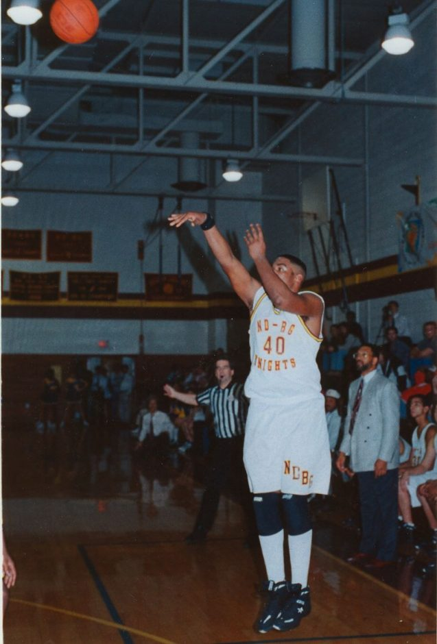 Antonio Delgado helped Notre Dame-Bishop Gibbons win a sectional title in 1994.
