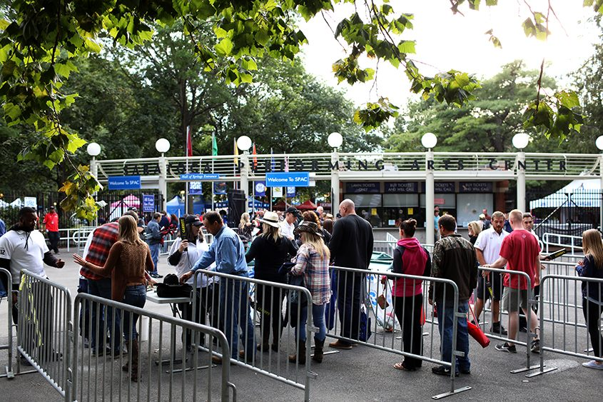 Concertgoers before the Zac Brown Band concert that took place at SPAC last September.