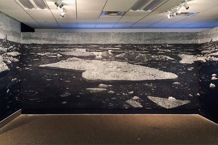 """The Sea of Ice, Receding,"" 2018, by Richard Barlow"