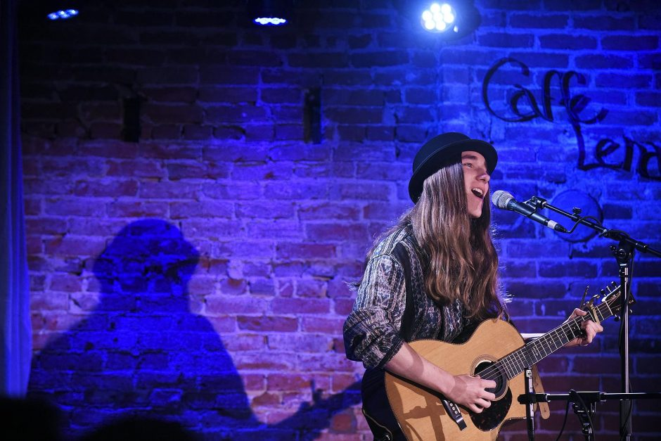 Sawyer Fredericks sings at Caffe Lena a year ago.