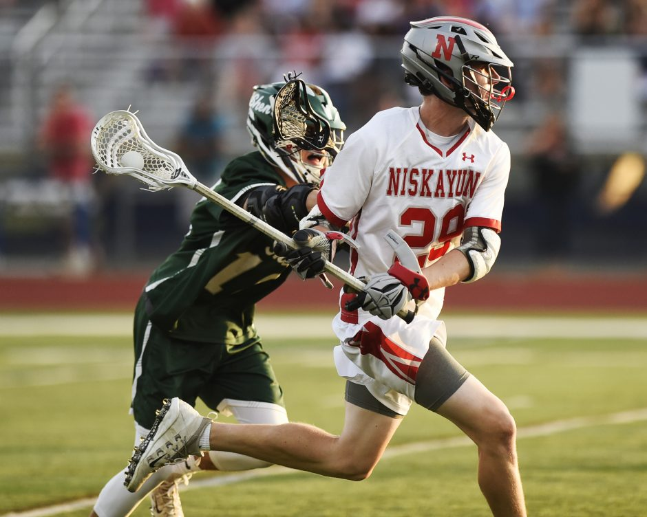 Niskayuna junior Griffin King scored nine goals against Shenendehowa Friday.