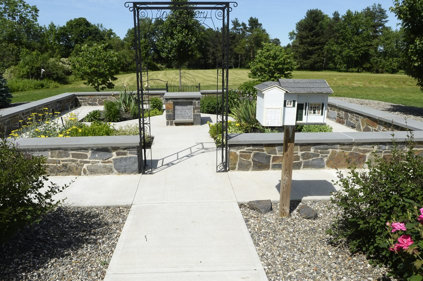 The Memory Garden in Garnsey Park off Route 146 in Clifton Park is pictured on June 14.