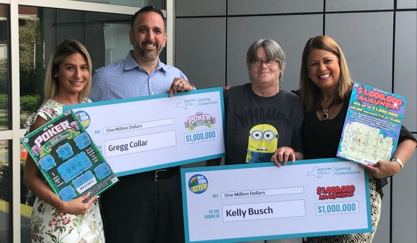 Gregg Collar and Kelly Busch were each announced Wednesday as $1 million winners