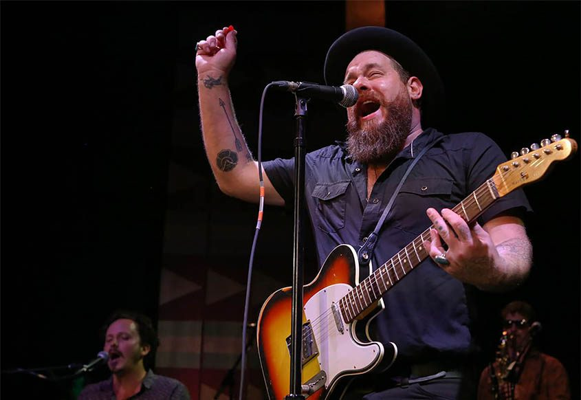 Nathaniel Rateliff performs in Los Angeles in 2016.