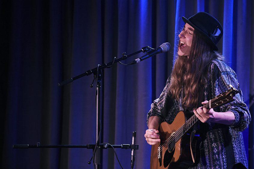 Sawyer Fredericks performs at the Glove Theatre in Gloversville on Sunday, June 3, 2018.