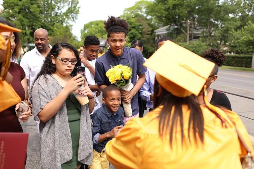 Notre Dame-Bishop Gibbons' commencement took place at St. John the Evangelist Catholic Church in Schenectady on Saturday.