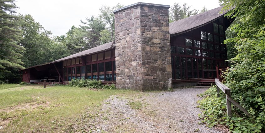 A building at Camp Boyhaven in Milton is seen on June 29.