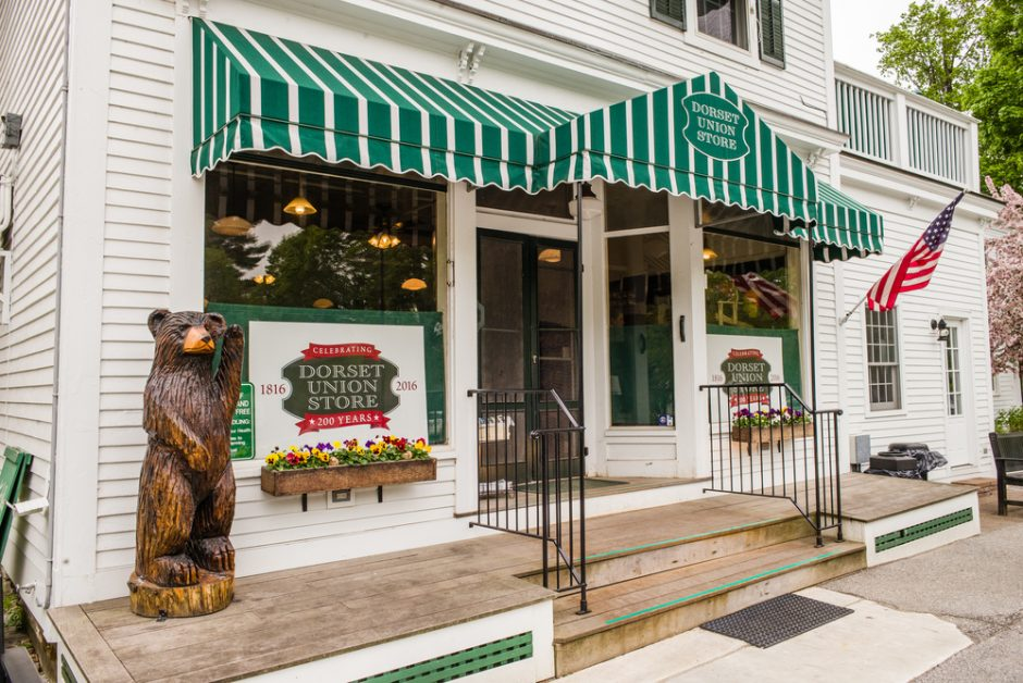The Dorset Union Store has been in operation for 202 years in Dorset, VT.