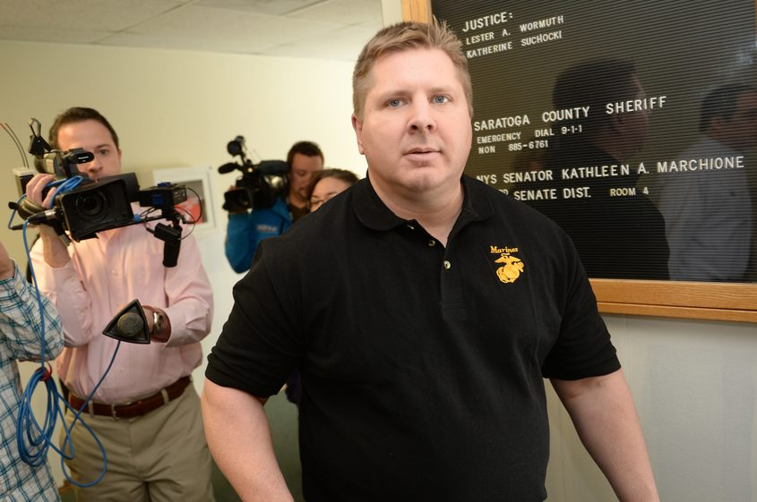 Shawn R. Glans Former Saratoga County Sheriff's Sgt. Shawn Glans leaves Halfmoon Town Court after pleading guilty in 2015.
