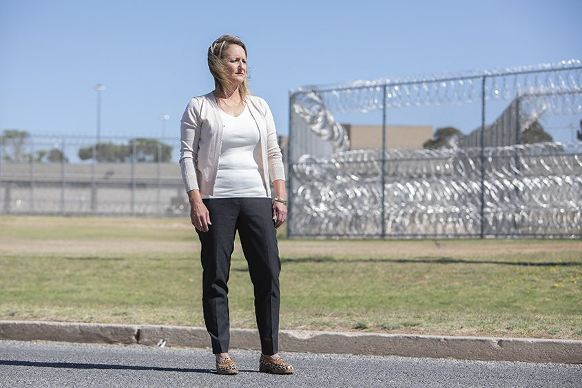 Paula Chavez, a teacher at the Federal Correctional Institution in Big Spring, Texas, is seen May 4, 2018.