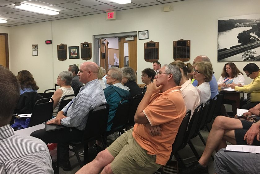 Clifton Park residents gathered at Town Hall Monday night for a public hearing regarding a large condo project.