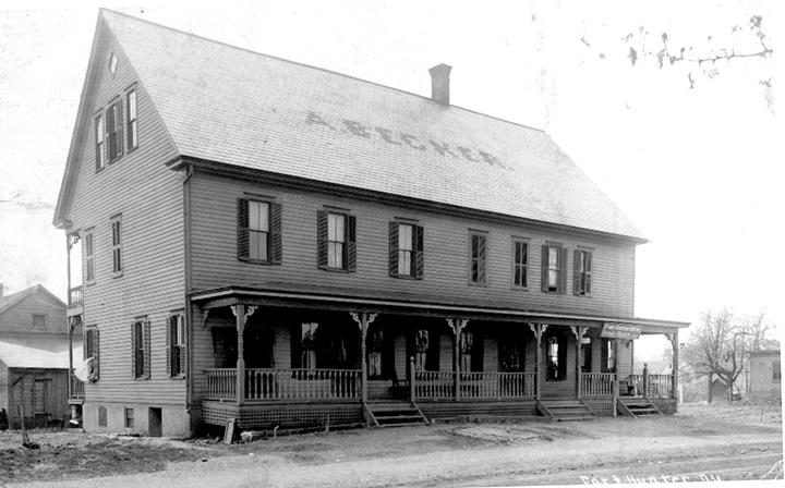 The Fort Hunter Hotel, shown some time around the turn of the 20th century, is now The Downings International House.