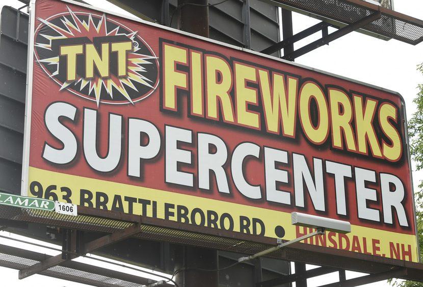 A billboard advertises fireworks on Erie Boulevard Thursday.