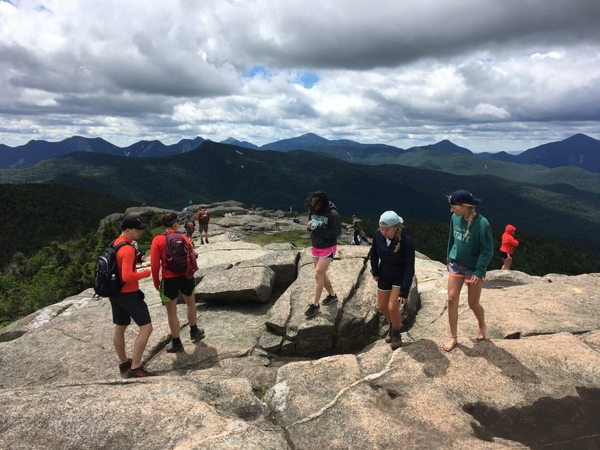The summit of Cascade Mountain in the Adirondack High Peaks is seen on Fourth of July weekend, 2017.