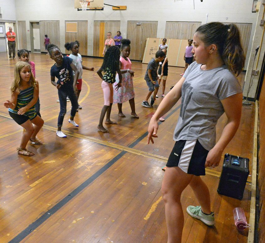 Anna Pennings teaches a choreography class at Martin Luther King School on Monday, during the Summer Enrichment Program.