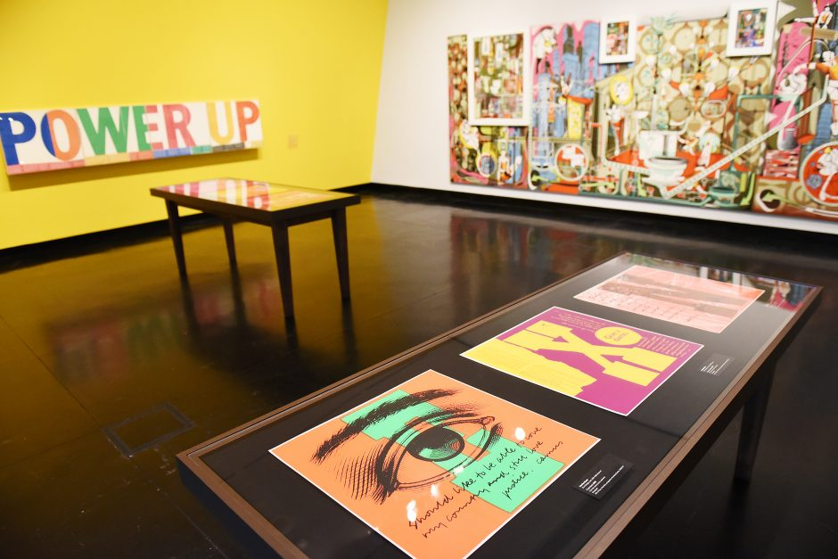 """""""Give a damn."""" is the latest exhibit to open at the Frances Young Tang Teaching Museum in Saratoga Springs."""