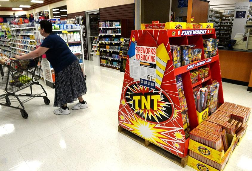 Fireworks display at Price Chopper in 2016.