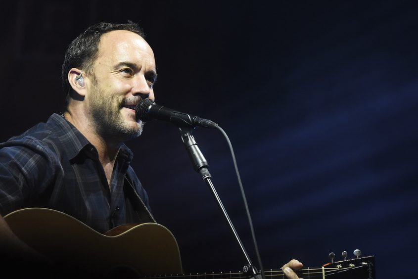 Dave Matthews performs with his band at SPAC in Saratoga Springs on Friday.