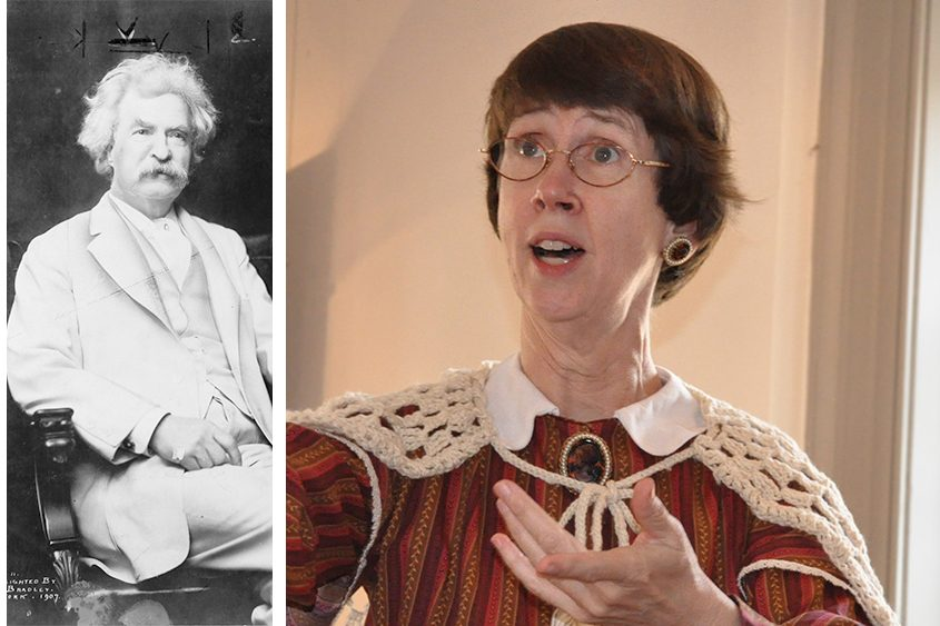 Judy Cook will talk about Mark Twain (left) at the Saratoga Springs History Museum Monday night at 7.