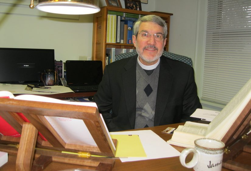 Rev. James McDonald of St. Stephen's Episcopal Church is pictured.